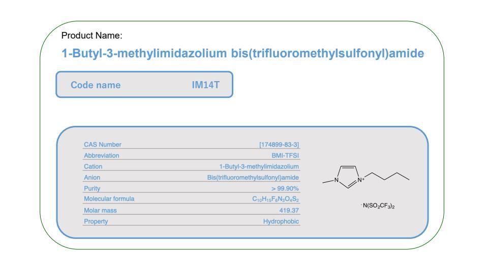 Produc Name    IM14T     BMI-TFSI