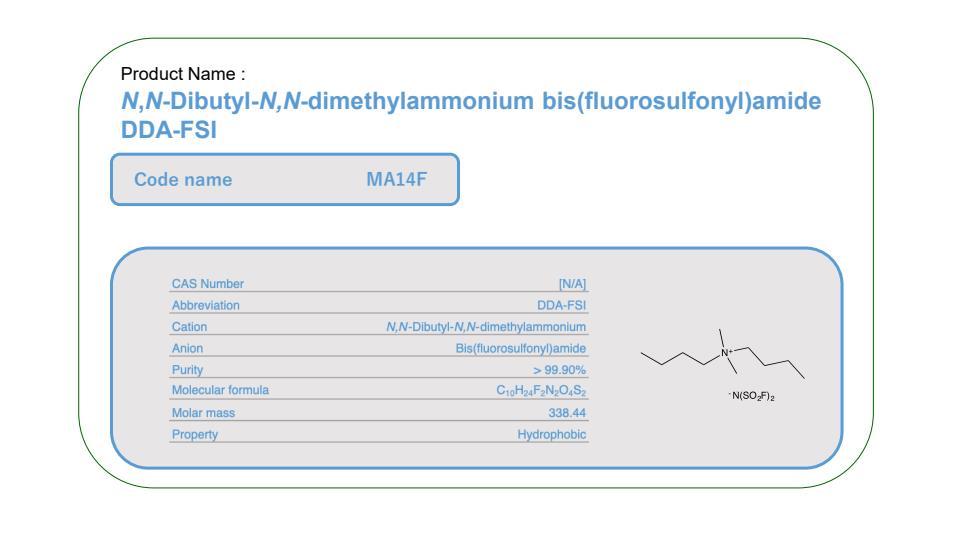 Product Name     MA14F          DDA-FSI