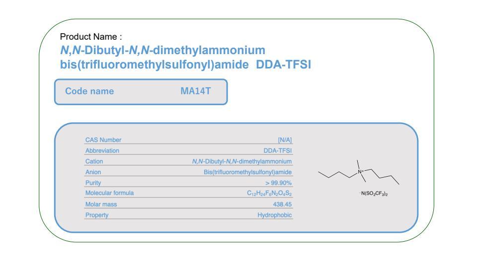 Product Name    MA14T          DDA-TFSI
