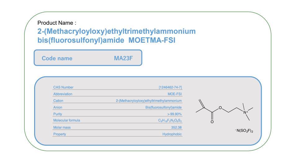 Product Name     MA23F       MOE-FSI