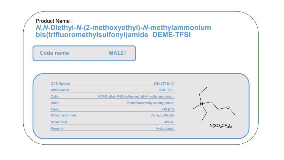 Product Name MA12T         DME-TFSI