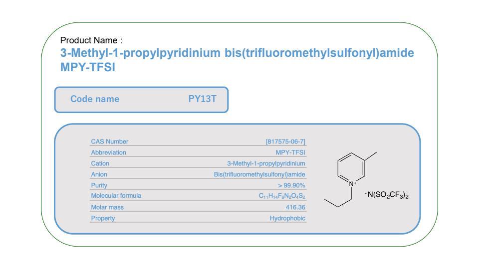 Product Name       PY13T              MPY-TFSI