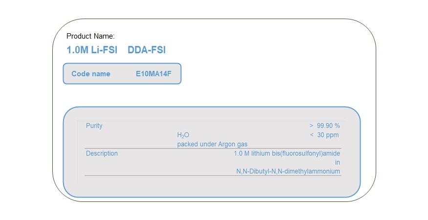 Product Name  E10MA14F  DDA-FSI