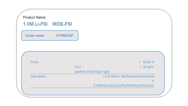 Product Name  E10MA23F   MOE-FSI