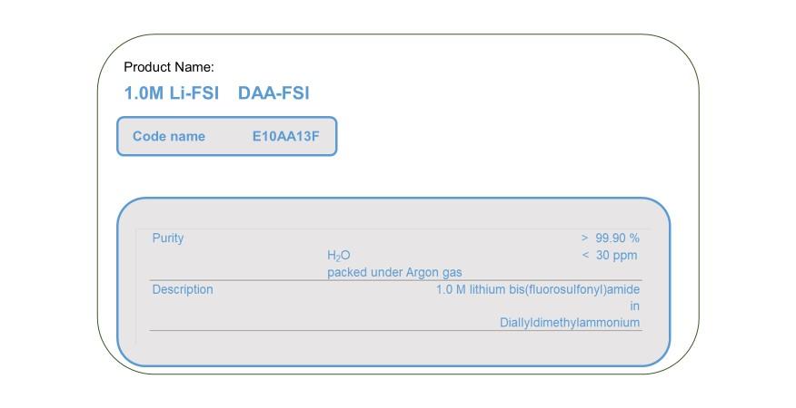 Product Name  E10AA13F    DAA-FSI