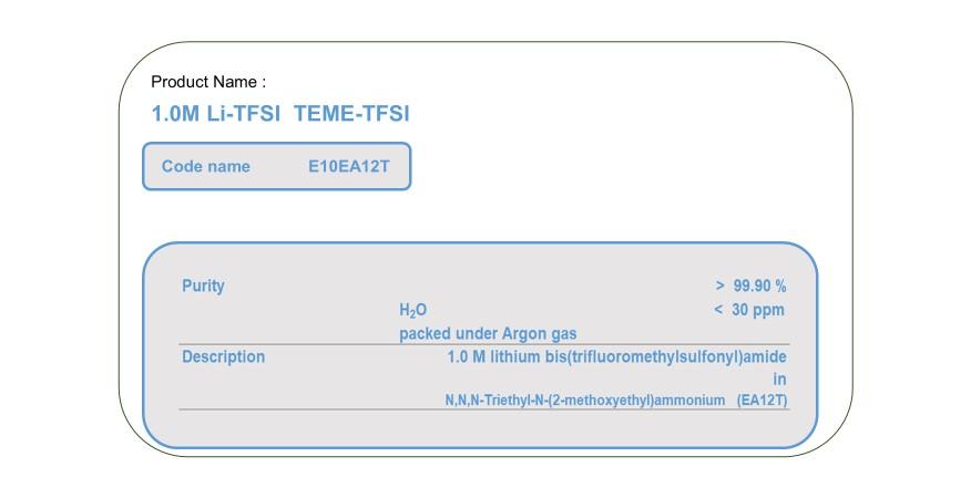 Product Name E10EA12T   TEME-TFSI